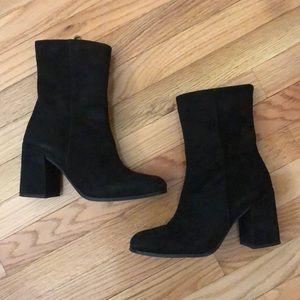 Kurt Geiger Slinky Black Suede Ankle Boots Size 8
